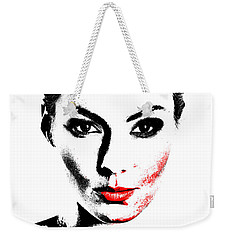 Woman Portrait In Art Look Weekender Tote Bag