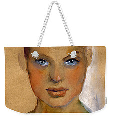Woman Portrait Sketch Weekender Tote Bag
