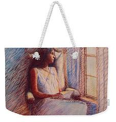 Woman Reading By Window Weekender Tote Bag