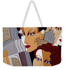 Woman Times Three Weekender Tote Bag