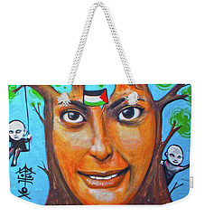 Weekender Tote Bag featuring the photograph Woman Tree by Munir Alawi
