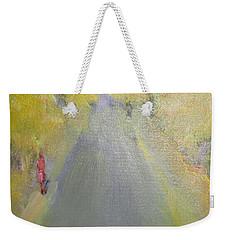 Woman Walking In Evening Weekender Tote Bag