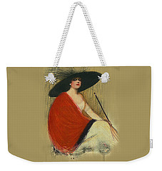 Woman Wearing Hat Weekender Tote Bag