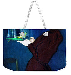 Woman With A Bird Cage  Detail Weekender Tote Bag