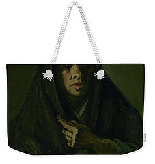 Weekender Tote Bag featuring the painting Woman With A Mourning Shawl Nuenen, March - May 1885 Vincent Van Gogh 1853 - 1890 by Artistic Panda