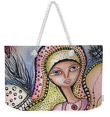 Woman With Large Eyes Weekender Tote Bag