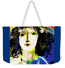 Woman With Party Hat Weekender Tote Bag