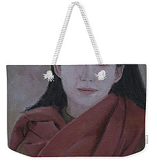 Woman With Scarf Weekender Tote Bag