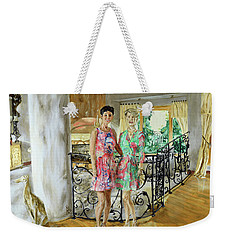 Women In Sunroom Weekender Tote Bag