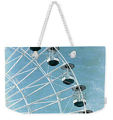 Wonder Wheel And Plane Series 3 Blue Weekender Tote Bag by Marianne Campolongo