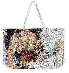 Wonder Woman Comics Mosaic Weekender Tote Bag by Paul Van Scott