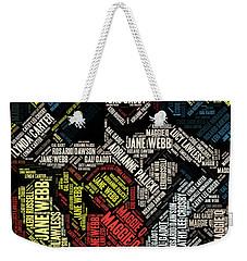 Wonder Woman Actress Mosaic Weekender Tote Bag