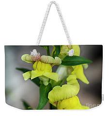 Wonderful Nature - Yellow Antirrhinum Weekender Tote Bag