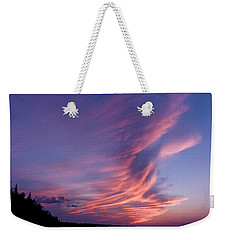 Weekender Tote Bag featuring the photograph Wonderful Skeleton Lake Sunset by Darcy Michaelchuk