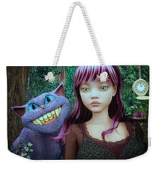 Wonderland Alice Weekender Tote Bag by Jutta Maria Pusl