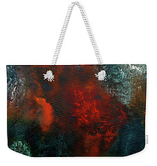 Weekender Tote Bag featuring the painting Wonderland by Carmen Guedez