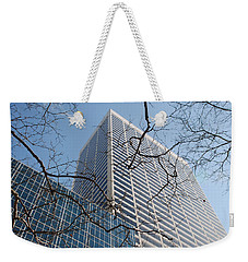 Weekender Tote Bag featuring the photograph Wood And Glass by Rob Hans