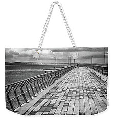 Weekender Tote Bag featuring the photograph Wood And Pier by Perry Webster