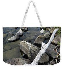 Wood And Rocks In Water Weekender Tote Bag