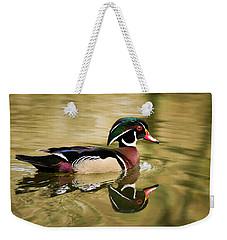 Wood Duck Cruising Weekender Tote Bag