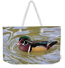 Wood Duck Weekender Tote Bag by David Stasiak