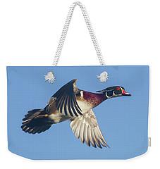 Wood Duck Flying Fast Weekender Tote Bag