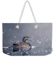 Weekender Tote Bag featuring the photograph Wood Duck Hen by Bill Wakeley