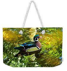 Wood Duck In Lights Weekender Tote Bag