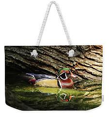 Wood Duck In Wood Weekender Tote Bag