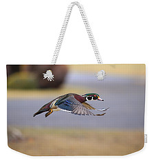 Wood Duck On The Move Weekender Tote Bag