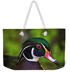 Wood Duck Portrait Weekender Tote Bag