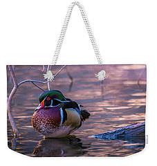 Wood Duck Resting Weekender Tote Bag