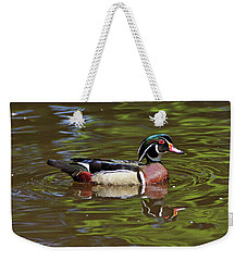 Weekender Tote Bag featuring the photograph Wood Duck by Sandy Keeton