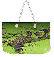 Wood Ducks Weekender Tote Bag