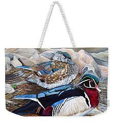 Wood Ducks  Weekender Tote Bag by Marilyn  McNish