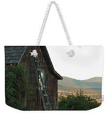 Wood House Weekender Tote Bag