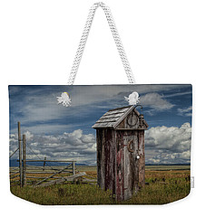 Wood Outhouse Out West Weekender Tote Bag by Randall Nyhof