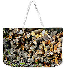 Wood Pile Weekender Tote Bag