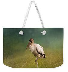 Wood Stork - Balancing Weekender Tote Bag by Kim Hojnacki