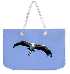 Weekender Tote Bag featuring the photograph Wood Stork by Gary Wightman