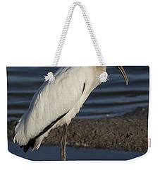 Wood Stork In The Final Light Of Day Weekender Tote Bag