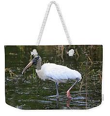 Wood Stork Through The Marsh Weekender Tote Bag by Carol Groenen
