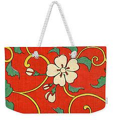 Woodblock Print Of Apple Blossoms Weekender Tote Bag