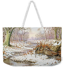 Woodcock Weekender Tote Bag by Carl Donner