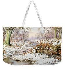 Woodcock Weekender Tote Bag by Carl Donner