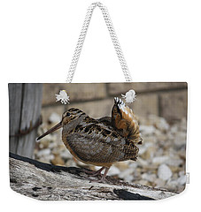 Weekender Tote Bag featuring the photograph Woodcock by Donna  Smith