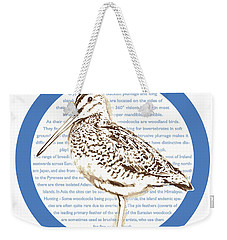 Woodcock Weekender Tote Bag by Greg Joens