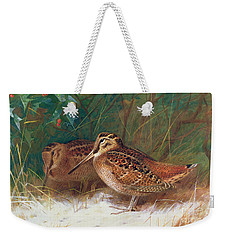 Woodcock In The Undergrowth Weekender Tote Bag by Archibald Thorburn