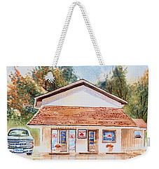 Woodcock Insurance In Watercolor  W406 Weekender Tote Bag by Kip DeVore