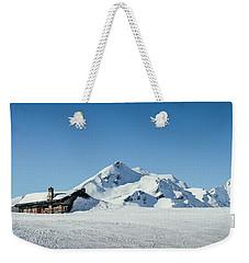 Wooden Alpine Cabin  Weekender Tote Bag